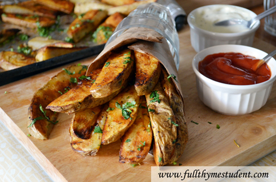 how to make potato wedges in oven fast