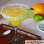 Simple Fresh Margaritas with Colored Rimming Salt (including a non-alcoholic version, too!)