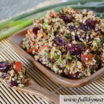 Lemon Cranberry Quinoa Salad (in under 20 minutes)