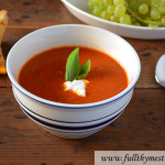 Creamy Roasted Tomato Soup (Paleo, Gluten-free and Vegan)