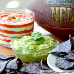 Yogurt Guacamole Dip and Patriotic Red Pepper Layer Dip