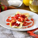 Basic Crepes Recipe with Simple Fresh Strawberry Sauce